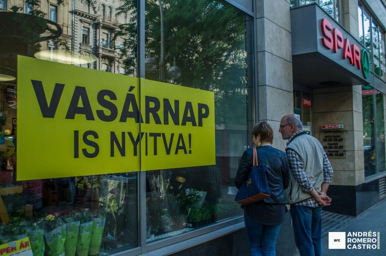 Comercios abren los domingos en Budapest
