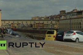 La tierra se abrió en Florencia El Ponte Vecchio fue testigo